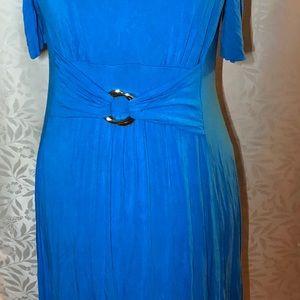 Blue turquoise maxi dress size 1X